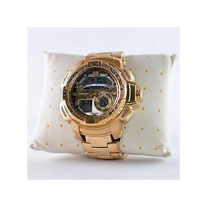 venta barata del reino unido nueva alta calidad atarse en Reloj Joefox Dorado